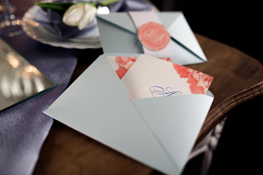 Handgemachte Einladungskarten zur Silberhochzeit